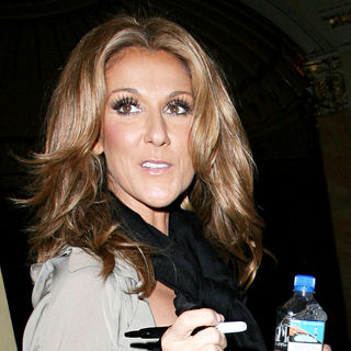 Celine Dion in Celine Dion Arrives Back at Her Hotel