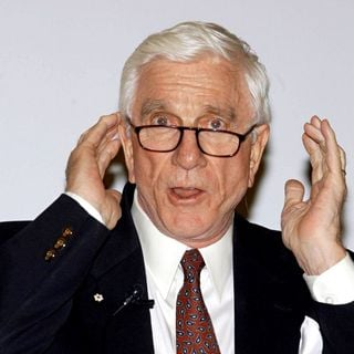 Leslie Nielsen Talks to The UCD Law Society in A Debate About Comedy in The 80s & 90s - wenn185961