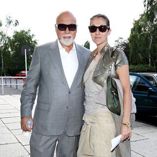 Rene Angelil, Celine Dion in Tempelhof Airport Before Flying to Celine Dion's Concert in Stockholm