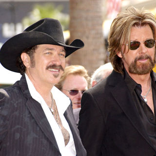 Brooks & Dunn receive a star on the Hollywood Walk of Fame on Hollywood Blvd