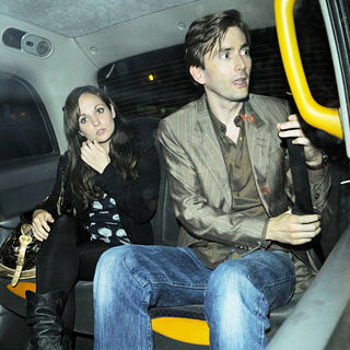 David Tennant and Georgia Moffett Leave The Duke of York Theatre Together - wenn2014665