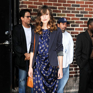 Keira Knightley in Keira Knightley leaving the Ed Sullivan Theatre