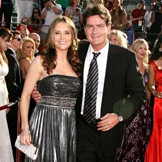Brooke Mueller, Charlie Sheen in 60th Annual Primetime Emmy Awards - Arrivals