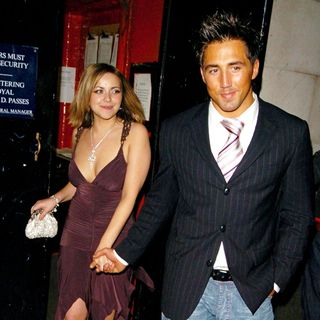 Charlotte Church and Gavin Henson leaving China White's nightclub by the back door