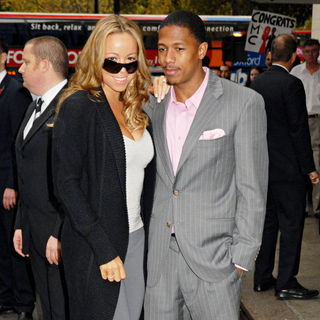 Mariah Carey and Nick Cannon Arrive at The Dorchester Hotel