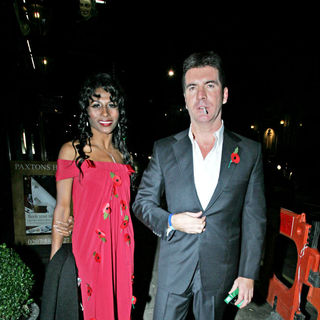 Sinitta, Simon Cowell in Simon Cowell and Sinitta Leaving Mr Chows Restaurant After Attending The National Television Awards