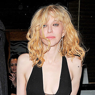 Courtney Love in Courtney Love leaving the Groucho private members club at 2am, appearing rather worse for wear