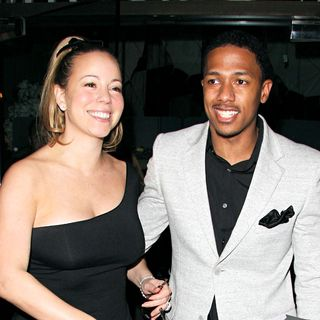 Mariah Carey and Nick Cannon Leaving Mr Chow's Restaurant