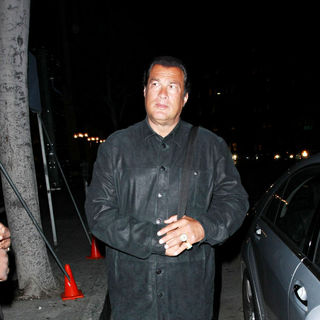 Steven Seagal in Steven Seagal leaving Mr Chow restaurant