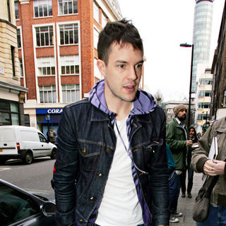Brandon Flowers, The Killers in Brandon Flowers of 'The KiIlers' arrives at Radio One Studios