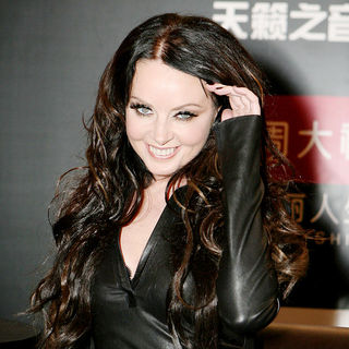 Sarah Brightman  attends a press conference ahead of her concert