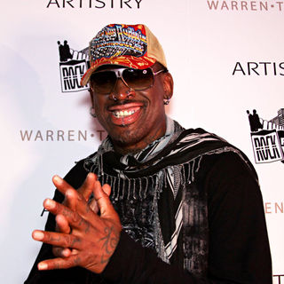 Dennis Rodman in After Hours Red Carpet Event Rock Fashion Week