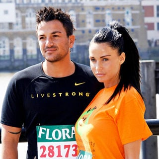 Katie Price, Peter Andre in Attend a photocall for the 2009 Flora London Marathon