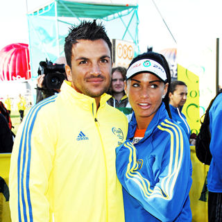 Peter Andre, Katie Price in 29th Flora London Marathon Starting