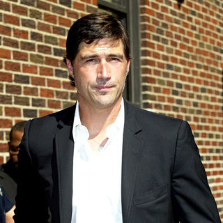 Matthew Fox outside the Ed Sullivan Theater for the 'Late Show With David Letterman'