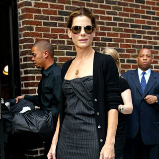 Sandra Bullock in Sandra Bullock outside the Ed Sullivan Theater for the 'Late Show With David Letterman'
