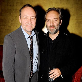 Kevin Spacey, Sam Mendes in Old Vic Bridge Project Party
