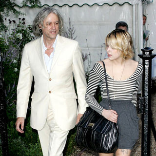 Bob Geldof, Peaches Geldof in Bob Geldof and Peaches Geldof Arrive at Sir David Frost's Annual Summer Garden Party