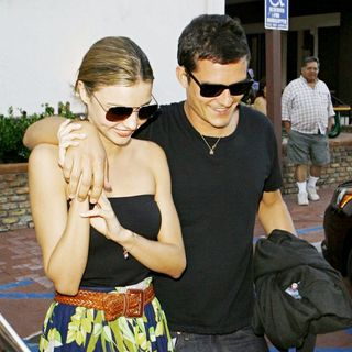 Miranda Kerr, Orlando Bloom in Orlando Bloom and Miranda Kerr Leaving Taverna Tony in Malibu