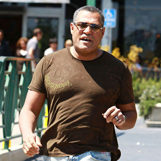 Laurence Fishburne Goes Food Shopping with A Friend at Whole Foods Market - wenn2509885