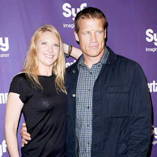 Anna Torv, Mark Valley in The Entertainment Weekly and SyFy 2009 Comic Con party