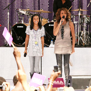 Bobbi Kristina Brown, Whitney Houston in Whitney Houston Performing Live on 'Good Morning America's Summer Concert Series'