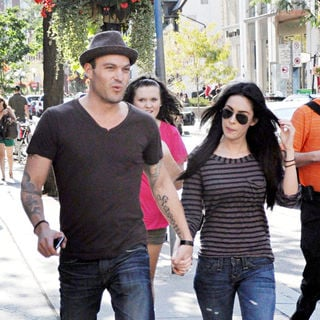 Megan Fox, Brian Austin Green in Go for Sushi before the start of the Toronto International Film Festival