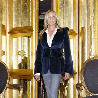 Bo Derek inside The Lloyd Klein Couture Boutique in preparation for her attending The Prix de l'Arc