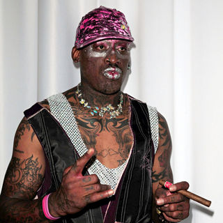 Dennis Rodman in Rock Fashion Week - Russell Simmons New Collection Argyle Culture - Backstage