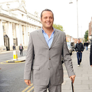 Vince Vaughn in Vince Vaughn in good humour as he takes a tour of Dublin