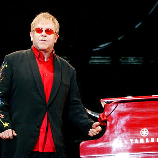Elton John performing live in concert during his 'Red Piano Tour' - wenn2618600