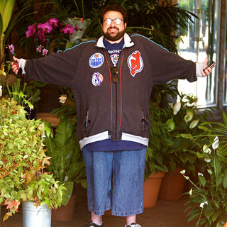 Kevin Smith in Kevin Smith was spotted getting flowers for his wife in West Hollywood