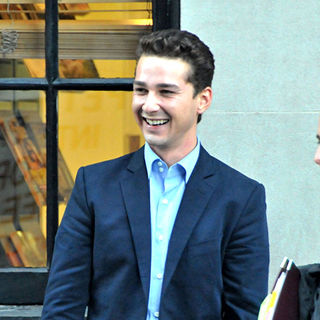 Shia LaBeouf in Shia LaBeouf on the set of 'Wall Street 2: Money Never Sleeps'