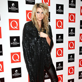 Ke$ha in The Q awards 2009 - arrivals