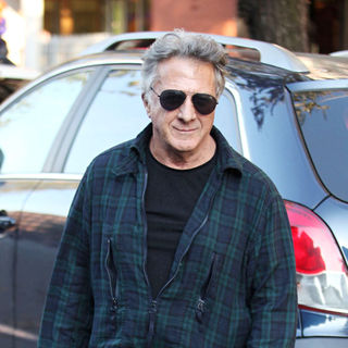 Dustin Hoffman in Dustin Hoffman Leaving Da Silvano, Italian Restaurant