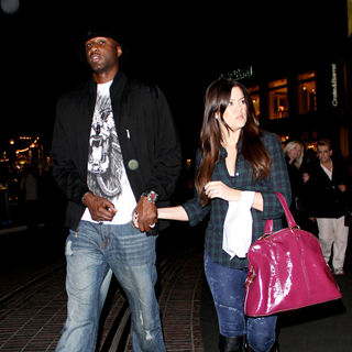 Lamar Odom, Khloe Kardashian in Khloe Kardashian and Lamar Odom leave a movie theater in Hollywood