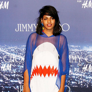 M.I.A. in M.I.A. arriving at the Jimmy Choo for H&M Launch Party