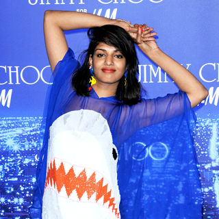 M.I.A. - M.I.A. arriving at the Jimmy Choo for H&M Launch Party