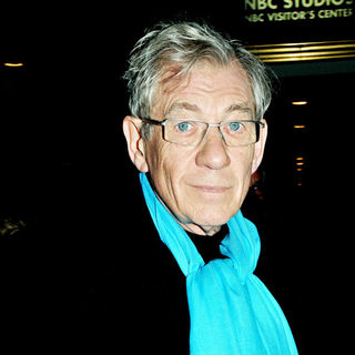Ian McKellen in NBC studios to appear on 'Late Night with Jimmy Fallon'