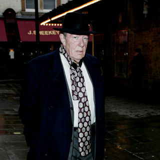 Michael Gambon in Michael Gambon Making His Way To A Cafe In Central London