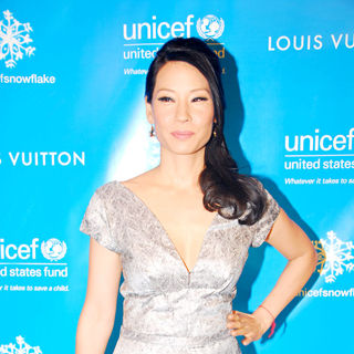 Lucy Liu in The lighting of the UNICEF Snowflake - Arrivals