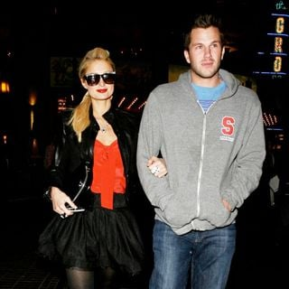 Paris Hilton and Doug Reinhardt leave a movie theater after watching new movie '2012' - wenn2665365