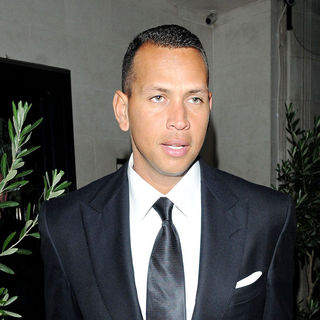 Alex Rodriguez in Alex Rodriguez leaving Scott's restaurant
