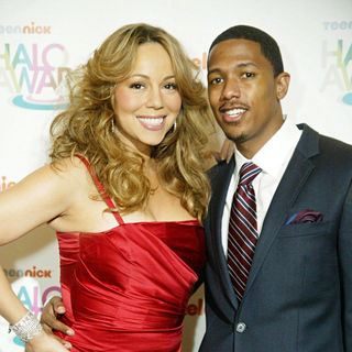 Mariah Carey, Nick Cannon in The TeenNick's HALO Awards screening
