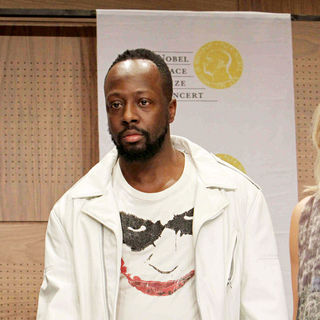 Wyclef Jean in Wyclef Jean attends the press conference for the Nobel Peace Prize Concert