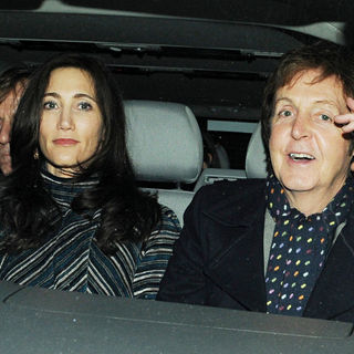 Paul McCartney - Leaving Fountain Studios after the Final of 'The X Factor'