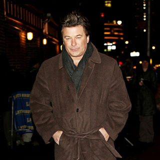 Alec Baldwin in Alec Baldwin outside the Ed Sullivan Theater for the 'Late Show With David Letterman'