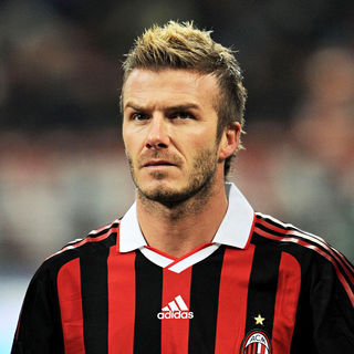David Beckham in AC Milan's midfielder David Beckham before the Serie A football match AC Milan vs Genova
