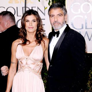 Elisabetta Canalis, George Clooney in 67th Golden Globe Awards - Arrivals