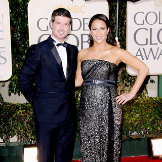 Paula Patton, Robin Thicke in 67th Golden Globe Awards - Arrivals